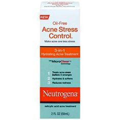 The fab-5 of acne busting products that work: Neutrogena acne stress control, 3-in-1 hydrating acne treatment - http://www.urbanewomen.com/the-fab-5-of-acne-busting-products-that-work.html