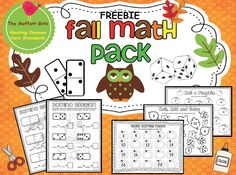 FREEBIE!  Fall Math Pack!  Domino Addition, Roll-add and color and more!