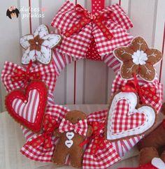 Corona Navidad galletas jengibre. Taller Online.