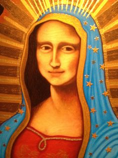 A Mexican Artist's take on the Mona Lisa or the Virgin of Guadalupe? See it at the National Museum of Mexican Art, during its 25th Anniversary year! Near 19th & Damen in Chicago's Pilsen neighborhood.