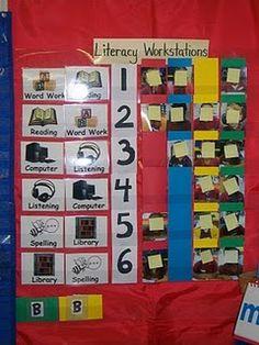 Mrs. Berg's Literacy Workstation Rotation chart