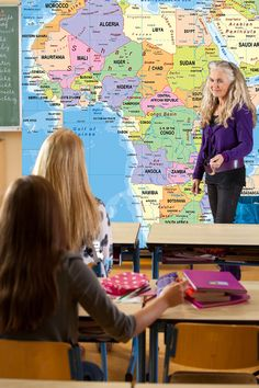 Africa Political Classroom Map Wall Mural from Academia