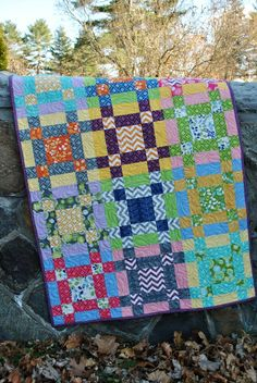 Crossroads Quilt. sew, idea, craft, crossroad quilt, bright color, quilts, quilti, layer cake, quilt pattern