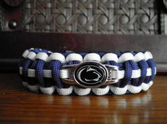 NCAA College Paracord Bracelet Penn State Nittany by duckhunter68, $16.95