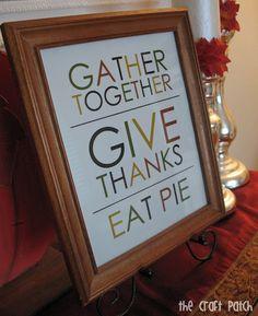 Free Thanksgiving Printable