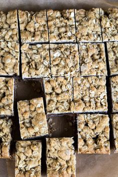 Gluten Free Oatmeal Cookie Bars with Chocolate Caramel