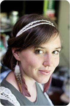 DIY: Double Strand Lace Headband