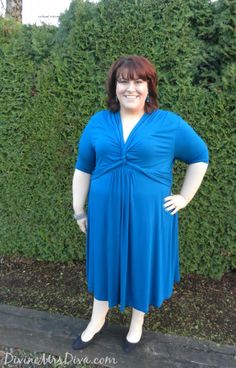 Wearing the lovely Trinity Twist Dress from @Kiyonna! #Kiyonna #plussize #fatshion #psbloggers