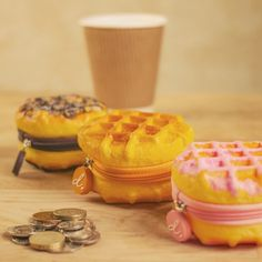 Scented Belgian Waffle Coin Purses