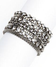 Silver Shimmer Chain Bracelet