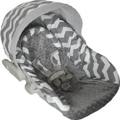 Gray Chevron Baby Car Seat Cover Bundle by hipncozy on Etsy, $75.00