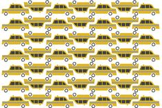 Just one more by Debbie Powell - this cheery taxi pattern for Galison