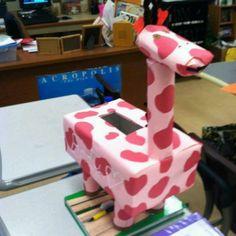 Giraffe valentines box project