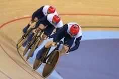 Team Sprint & Pursuit - Cycling - Team GBR set new world record