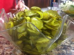 Classic Microwave Bread -N- Butter pickles.
