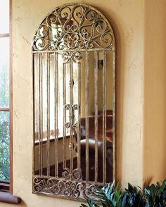 """""""Garden Gate"""" Mirror at Horchow."""