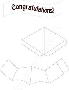 Tarjetas pop up egresados. Paso a paso en http://extremecards.blogspot.com.ar/search/label/graduation