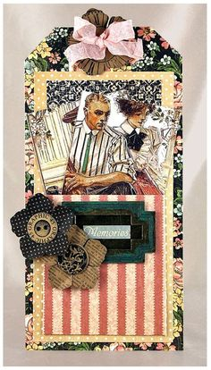 Learn how to make this A Ladies' Diary Picture Perfect Tag by clicking on the photo! #graphic45 #tutorials
