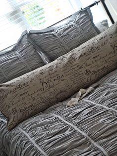 French Script Body Pillow...Jolie Marche