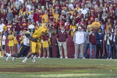 Look at Cyclone freshman Allen Lazard dragging a man into the end-zone on a crucial touchdown against Toledo #Football #LoyalForeverTrue