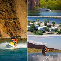 Make a splash along Arizona's western region and lake country. Hop aboard a speed boat and feel the warm air whip through your hair and relax beachside in one of the many popular RV campgrounds for a trip you'll never forget.