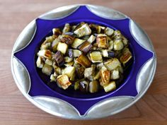 How to Roast Eggplant Cubes - Easy Healthy Tutorial