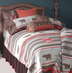 Bedroom Design with Southwest Style Bedding