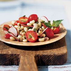 Fresh Pea Salad with Radishes, Tomatoes, and Mint Recipe | MyRecipes.com Mobile