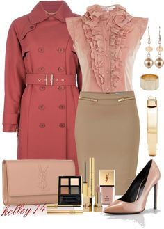 """""""Ruffles and YSL"""" by kelley74 on Polyvore"""
