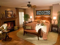 Fireplace in the bedroom :)