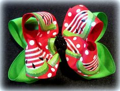 Glitter Watermelon Double Layered Boutique by MyBellaBellaBowtique, $5.99