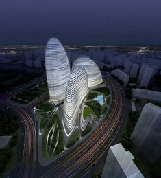 Wangjing Soho, Beijing, China by Zaha Hadid