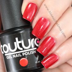 "Couture Gel Nail Polish ""Red Carpet""."