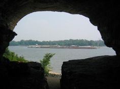 Cave In Rock, IL Although I never officially lived here it is worth mention because my family spent weekends first at my grandparents summer trailer and then later in my parents summer cabin every summer from as early as I can remember being able to swim (3 or 4).  My parents built a home on their property just about a mile down the road from this cave overlooking the Ohio river.  They moved there two years ago. rock, cave