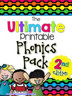 The ULTIMATE Printable Phonics Pack {2nd edition!} Over 100 ready-to-use activities that practice Long and Short Vowels, R-Controlled vowels {ar/er/ir/or/ur}, and Vowel Teams {ai/ay, au/aw, ew/oo, ie/igh, ee/ea, ou/ow, and oi/oy}! $