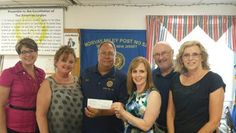 Ocean City American Legion Morvay-Miley Post 524  donates to Walk for the Wounded