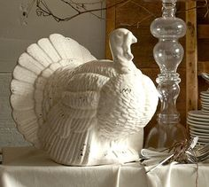 Rustic Ceramic Turkey from Pottery Barn