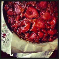 bolo de morango  [com azeite & balsâmico]