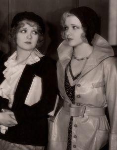 Clara Bow and Dixie Lee