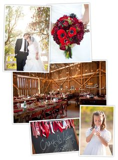Cute red and white garland