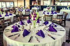 photo courtesy of Fonyat Photographer #tablesettings #purple #wedding #KarlStrauss