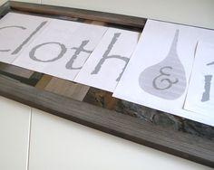 Get Crafty – DIY Booth Sign | Cloth & Ink