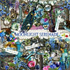 A beautiful nostalgia and romance style scrapbook collection designed to coordinate with the Moonlight Serenade scrapbook collection from Raspberry Road.