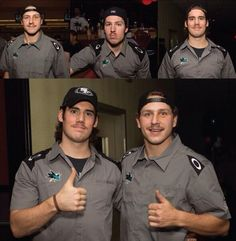 Sharks Movember 'staches: Couture, Desi, Sheppard.
