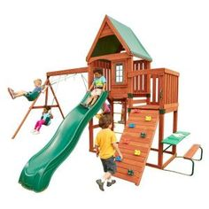 Swing-N-Slide Playsets Knightsbridge Wood Complete Play Set-PB 9241-1 at The Home Depot  $899