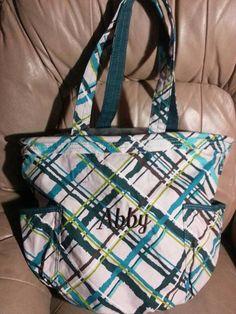 Sea Plaid Thirty-One Retro Metro Bag