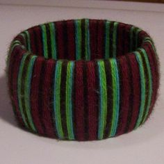Hand Wrapped Bangle Bracelet  Handpainted 100 by PippsPurses, $8.00
