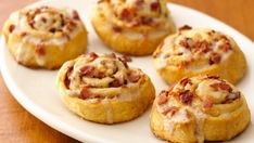 A simple breakfast roll that accompanies eggs or fruit, these maple and bacon roll-ups start with Pillsbury® refrigerated dough for extra-quick prep.