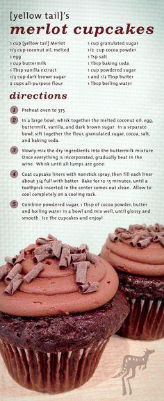 [yellow tail] Chocolate Merlot Cupcakes
