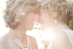 Lesbian wedding...cute.